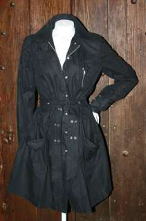 ARMANI EXCHANGE AWESOME STEAM PUNK TRENCH COAT JACKET NEW WITH TAGS