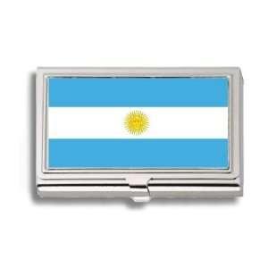 Argentina Argentine Flag Business Card Holder Metal Case