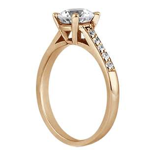 Cathedral Pave Diamond Engagement Ring Setting 18k Rose Gold (0.20ct