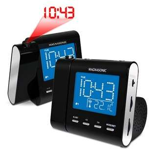MAG MM176K AM/FM Projection Clock Radio with Dual Alarm, Auto Time Set