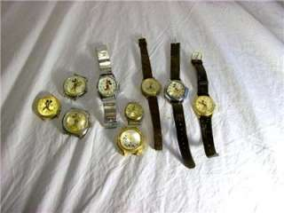 LOT OF DISNEY MICKEY MOUSE DONALD DUCK WATCHES TIMEX BRADLEY LORUS FOR