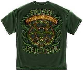 IRISH HERITAGE FIREFIGHTER FIRE DEPARTMENT FIREMAN TSHIRT S M L XL 2X