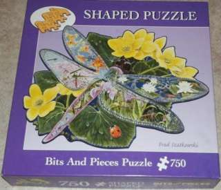 Bits & Pieces DRAGONFLY LANDING 750 Piece Shaped Jigsaw Puzzle