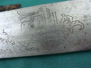Late 18th C Long German Hunting Knife Dagger Sword