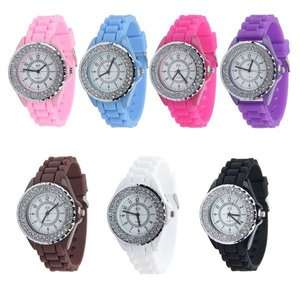 black face sport silicone jelly watch wholesale