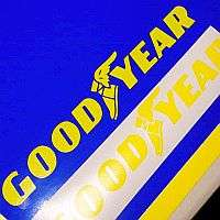 GOODYEAR YELLOW Qty of 2 racing decal sticker good year