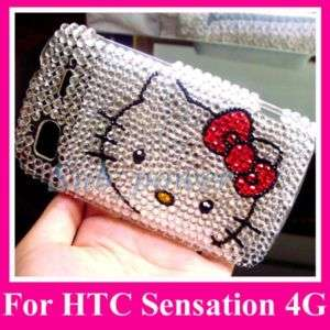 Hello Kitty Bling Case Cover HTC Sensation 4G z710e FS