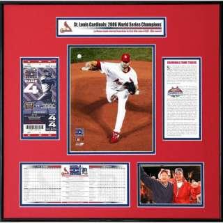 MLB   St. Louis Cardinals   2006 World Series Ticket Frame   Chris