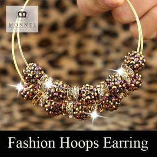 BK62 HOT Basketball Wives Circle Hoops Earring Fashion Jewelry Beads