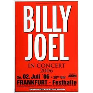 Billy Joel   Gardens 2006   CONCERT   POSTER from GERMANY