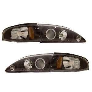 1994 1998 Ford Mustang KS Black Halo Projector Headlights