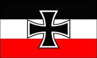 GERMAN/GERMANY IRON CROSS NAVY JACK 3X5 WW1 FLAG biker