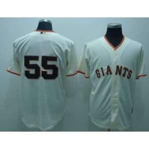 2012 San Francisco Giants 55 Tim Lincecum Cream Jersey