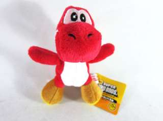 Red Cute Soft Plush Doll Toy lanyard Super Mario BROS Run Yoshi (toy3