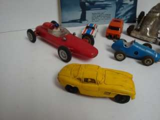 Vintage Lot of Race Cars SCHUCO Micro Racer Slot Cars Old Toys Marx