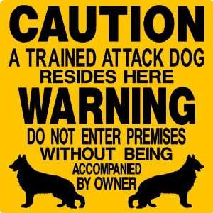 GERMAN SHEPHERD ALUMINUM GUARD DOG SIGN 2665 Everything Else