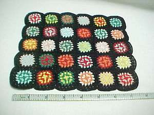 Granny Square Crazy Afghan Quilt #D095 Dollhouse Mini