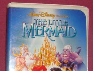 DISNEY THE LITTLE MERMAID (VHS) 1990 RARE BANNED COVER 012257913033