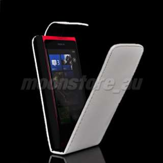 FLIP LEATHER SKIN CASE COVER POUCH + SCREEN FOR NOKIA LUMIA 800 N800