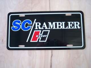 Hurst SC Rambler license plate tag 69 Scrambler American Motors Racing