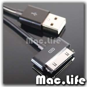 Ft BLACK USB Cable for ALL iPhone 4 3G S iPod iTouch