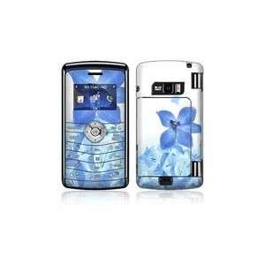 LG enV3 VX9200 Skin Decal Sticker   Blue Neon Flower