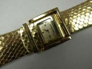 Michael Kors Gold Tone Leather Strap Watch MK2133 $180