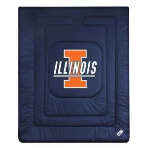 Illinois Fighting Illini LR Twin Comforter/Bedspread