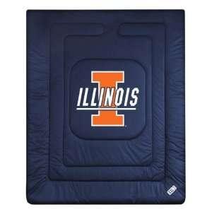 Illinois Fighting Illini LR Twin Comforter/Bedspread