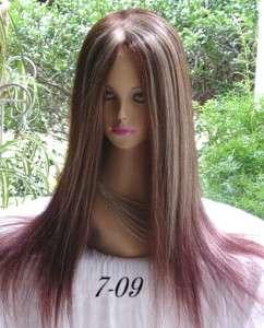 24 Inch CUSTOM MADE 100% Human Hair Full Lace Wig/Wigs