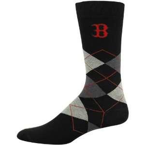 Boston Red Sox Black Argyle Dress Socks