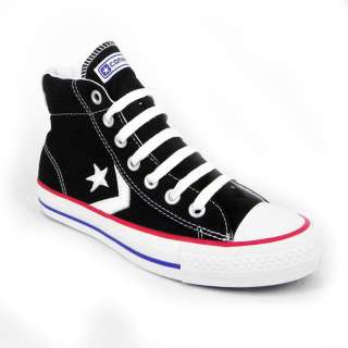 Converse Star Player Ev Hi Top Unisex Canvas Skate Trainers   Black