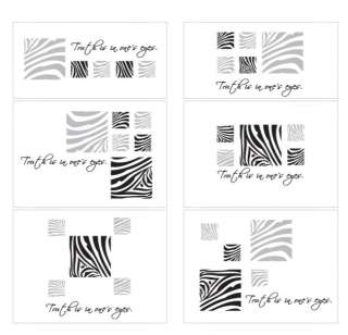Zebra Square Pattern Decor Mural Art Wall Sticker Decal Y325 (various