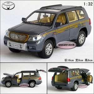 New 1:32 Toyota Land Cruiser Diecast Model Car With Sound&Light Blue
