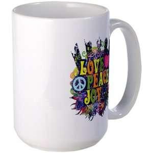 Mug Coffee Drink Cup Love Peace Joy Peace Symbol Sign