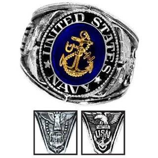 Military gear or U.S. Navy Uniform Veteran Ring. Navy Ring SIZE 10