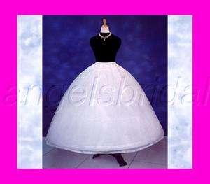 FULL BRIDAL WEDDING GOWN DRESS PETTICOAT CRINOLINE SKIRT SLIP