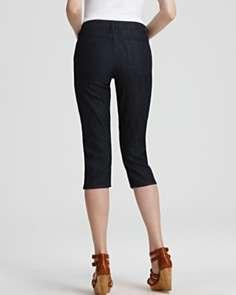 Not Your Daughters Jeans Petites Brandi Rhinestone Grommet Capris in