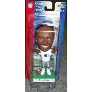 Jerry Rice Raiders 9 Bobbing Bobble Head Doll Sports