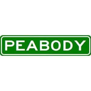 PEABODY City Limit Sign   High Quality Aluminum Sports