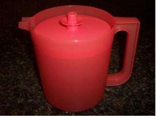Tupperware Pitcher Jug RARE 1Qt Juice ice tea Coral color NEW