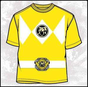 Power Rangers Costume Yellow Ranger T shirt