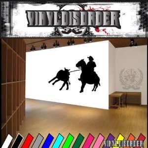 Western Rodeo Roper NS002 Vinyl Decal Wall Art Sticker