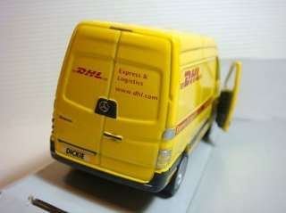 NEW DICKIE DHL MERCEDES BENZ SPRINTER VAN DIECAST CAR PULLBACK TOY CAR