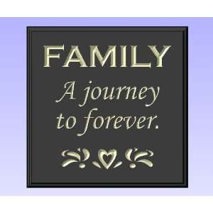 Decorative Wood Sign Plaque Wall Decor with Quote FAMILY A journey to