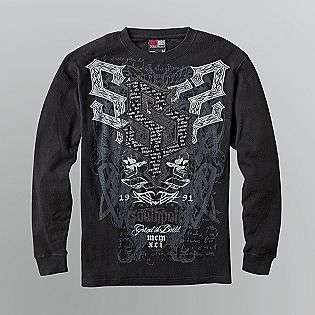 Mens Tattoo Inspired Graphic Thermal T Shirt  Southpole Clothing