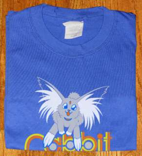 Tenchi Muyo blu Shirt Carrot lover Ryo Ohki Cabbit NEW