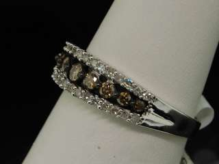 or Yellow Gold Chocolate/Champagne Diamond Ring Band .50 Ct Engagement