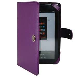 Color PU Leather Case/Cover for Kindle Fire 3G WiFi + Cosmos Cable Tie