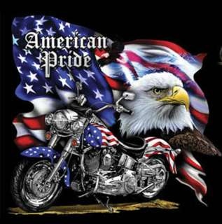 American Pride MotorCycle Cross Stitch Pat***L@@K***